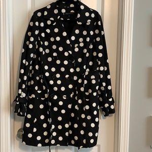 Anne Klein Polka Dot Rain Coat